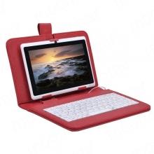"""ПРОМОЦИЯ!!! Кожен калъф с клавиатура за таблети 7"""" с micro USB - 8 цвята"""