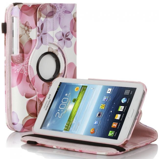 Кожен Калъф За Таблет Samsung Galaxy Tab 3 - 7 инча - модел с Цветя