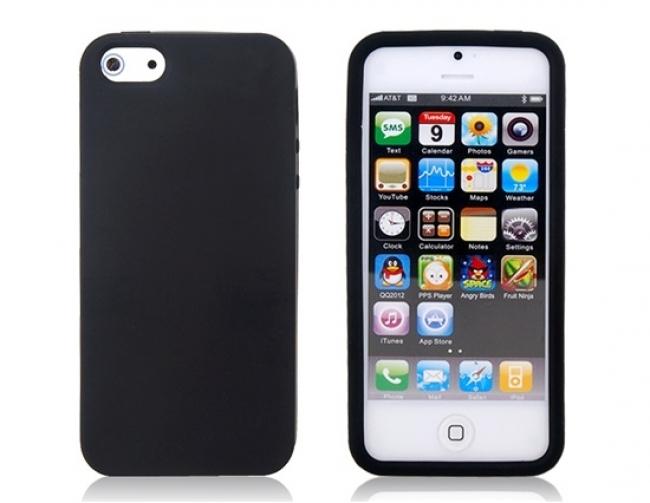 Черен силиконов калъф за iPhone 5/5s
