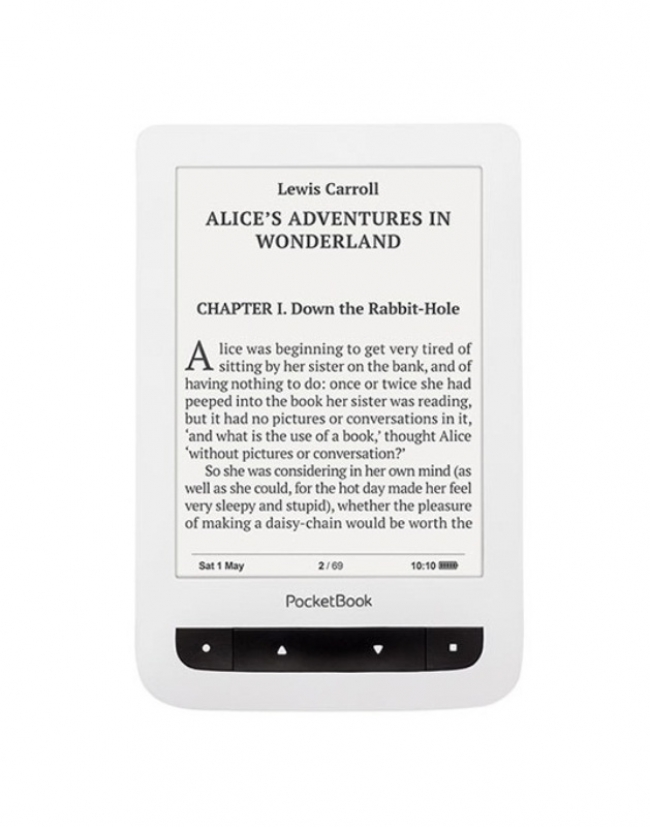 "Електронна книга PocketBook Basic Touch PB 624 - 6"", бяла"