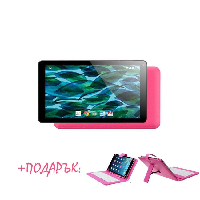 Таблет QuadColor Pink - 7 инча, 8GB, Четириядрен + РОЗОВА КЛАВИАТУРА