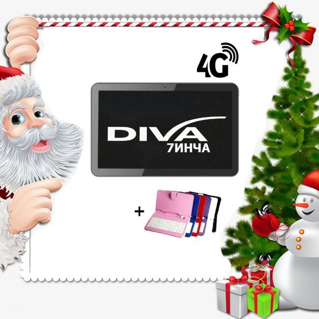 Промоция! Таблет DIVA 4G, 7 инча HD + Калъф с клавиатура подарък