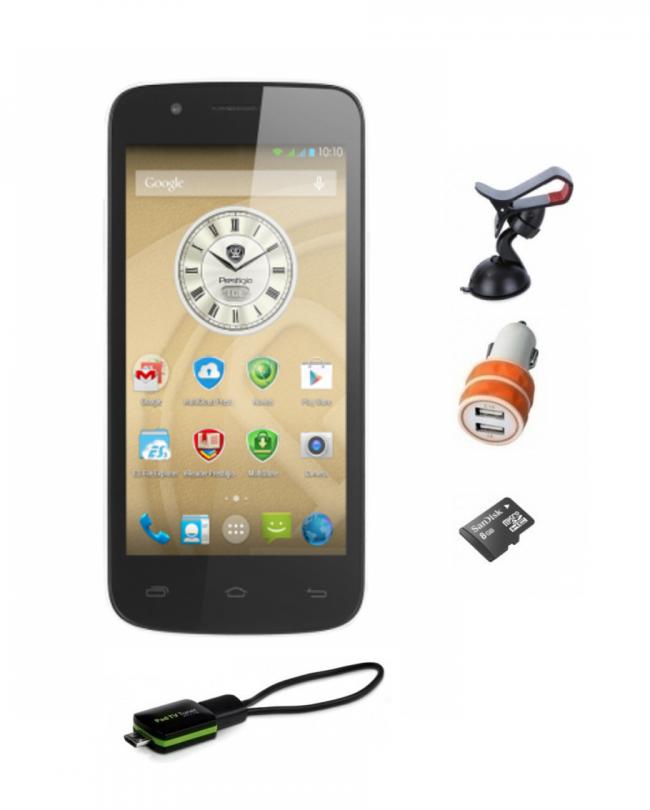 Смартфон с GPS навигация PRESTIGIO MultiPhone 5 инча, 2 СИМ, кола, камион, телевизия