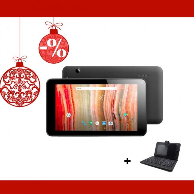 Промоция! Таблет QuadColor Black 7 инча, 8GB + Калъф с клавиатура