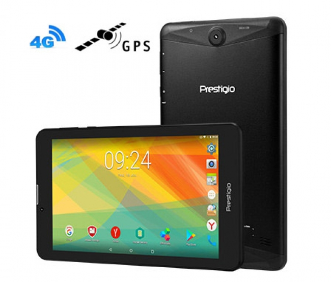 Таблет Prestigio Grace 3157 4в1 4G 7 инча, SIM, Android 7.0, GPS, DVR, 24GB