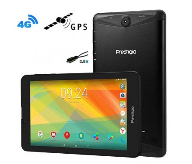 Таблет + GPS + Цифрова ТВ + Телефон + DVR Prestigio Grace 3157 5в1 4G, 24GB, 7 инча