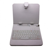 Калъф с клавиатура за таблет 8 инча - USB - БЯЛ
