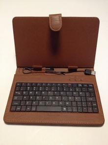 Калъф с клавиатура за таблет 9 инча - USB - КАФЯВ