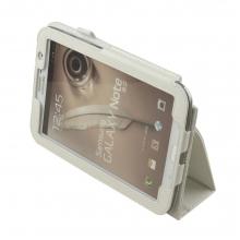 """Кожен калъф - стойка за таблет Samsung Galaxy Note 8"""" (N5100) - БЯЛ"""
