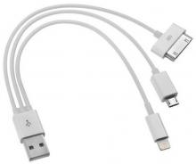 USB преходник 3 в 1 подходящо за iPhone 4/5 и Samsung