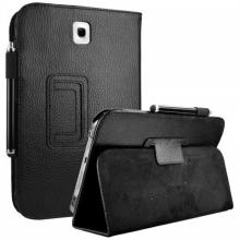 """Кожен калъф - стойка за таблет Samsung Galaxy Note 8"""" (N5100) - ЧЕРЕН"""