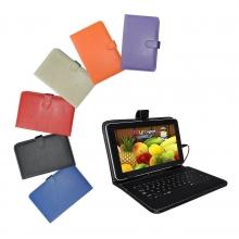 Калъф с клавиатура за таблет 8 инча - micro USB - 6 цвята