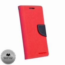 Кожен луксозен калъф за SAMSUNG S4 Чeрвен тип папка GoosPery