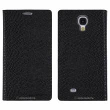 Кожен луксозен калъф за SAMSUNG S4 Черен тип папка KOMODO