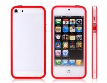 Червен силиконов бъмпер за iPhone5/5s
