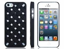 Черен пластмасов калъф на карета за iPhone 5/5s