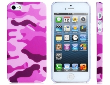 Пластмасов калъф розов камуфлаж за iPhone 5/5s