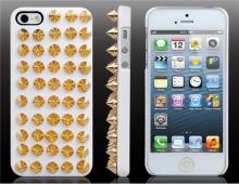 Пластмасов калъф шипове бял за iPhone 5/5s