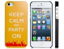 """Пластмасов калъф """"Keep calm and party on"""" за iPhone 5/5s"""