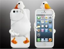 Силиконов калъф за iPhone 5/5s пате - бял