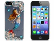 Пластмасов калъф за iPhone 5/5s с камъни Малката Русалка