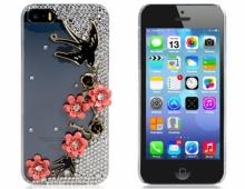 Пластмасов калъф за iPhone 5/5s с камъни Цветя