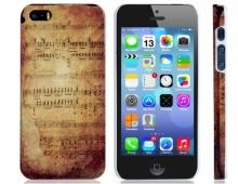 Пластмасов калъф за iPhone 5/5s музикални ноти