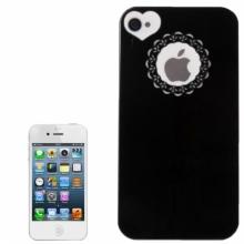 Пластмасов калъф за iPhone 4/4s сърце и дантела