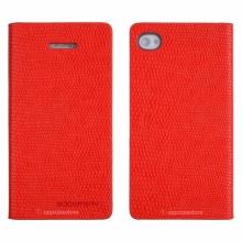 Кожен луксозен калъф за IPHONE 5/5S Червен тип папка KOMODO