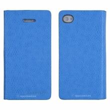 Кожен луксозен калъф за IPHONE 5/5S Син тип папка KOMODO