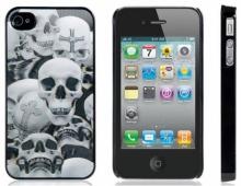 Пластмасов калъф за Iphone 4/4S 3D ЧЕРЕПИ