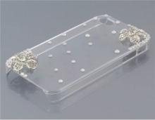 Пластмасов калъф за Iphone 4/4S ПРОЗРАЧЕН С КАМЪЧЕТА