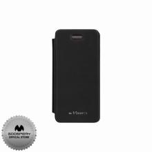 Луксозен Кожен калъф за Iphone 5/5S ЧЕРЕН ТИП ПАПКА FLIP COVER