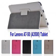 Кожен калъф за таблет Lenovo IdeaTab A3500/A7-50 - 7 инча ПАПКА + ПИСАЛКА