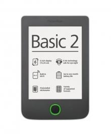 Електрона книга PocketBook 614 Basic 2 - Тъмносива