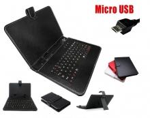 Калъф с клавиатура за Lenovo A8-50 A5500 - 8 инча - micro USB - 6 цвята