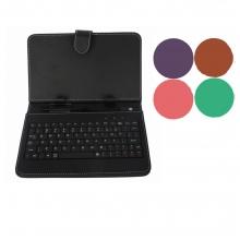 Калъф с клавиатура за таблет 9 инча micro USB - ЧЕРЕН