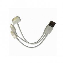 USB зарядно 3 в 1 - IPhone 4, iPhone 5, micro USB