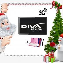 ПРОМОЦИЯ! Таблет Diva Premium 10.1 инча 3G GPS + Калъф с клавиатура