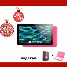 Розов таблет QuadColor Pink 7 инча, 8GB с розови клавиатура и слушалки