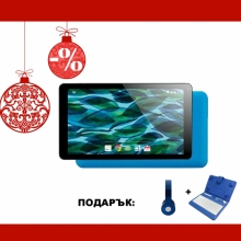 Син таблет QuadColor Blue - 7 инча, 8GB със сини клавиатура и слушалки